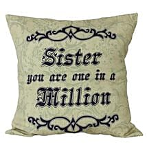 Cushion For Sister: Bhai Dooj Gifts for Sister