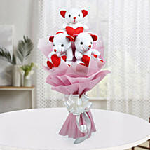 Cute Bouquet Of Teddy Bear: Send Soft Toys for Kids