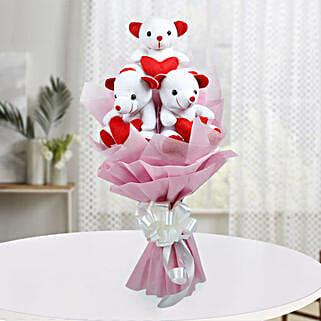 Cute Bouquet Of Teddy Bear: 1st Birthday Gifts