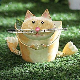 Cute Cat Planter: Gardening Tools