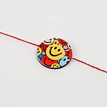 Cute Colorful Smiley Rakhi: Send Rakhi to Guna