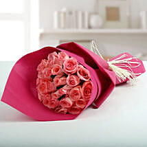 Cute Pink Roses Bunch: Flowers for Mother's Day