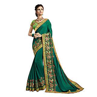 Dark Green Georgette Saree: Saree Gifts