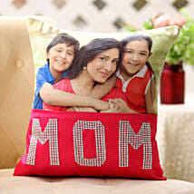 Dazzling Mom Cushion: Personalised Cushions Pune