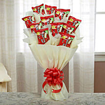 Delicious Choco Pie Bouquet: Chocolate Bouquet for Holi