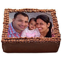 Delicious Chocolate Photo Cake: Personalised Gifts Delhi