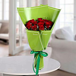 Delightful Red Roses Bunch: Designer Bouquet