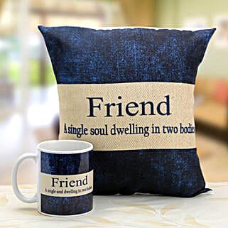 Denim print mug and cushion: Cushions