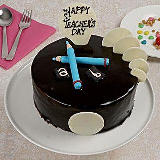 Designer Chocolate Truffle Cake: Gifts for Teachers Day