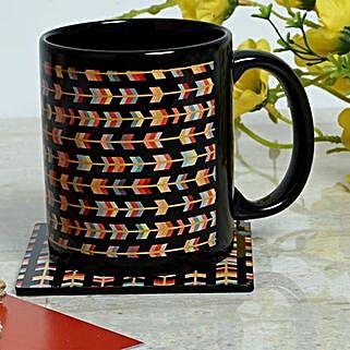 Designer Printed Mug With Coaster: Fathers Day Mugs