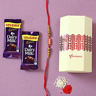Designer Rakhi & Dairy Milk Chocolates: Rakhi Gifts