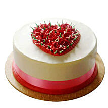 Desirable Rose Cake: Eggless Cakes for Anniversary