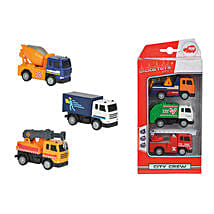 Dickie City Crew 3 Pack with Cool Dude Smiley: Toy Vehicles