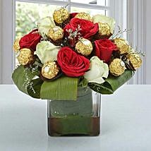 Distinctive Choco Flower Arrangement: Send Chocolate Bouquet for Holi