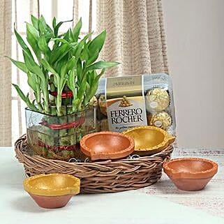Diwali Basket: Plants N Diyas