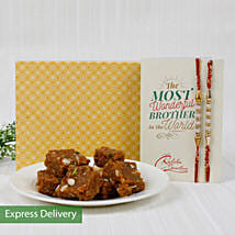 Dodha Barfi Rakhi Hamper: Send Rakhi With Sweets to Mohali