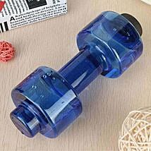 Dumbbell Water Bottle Blue Color: Funny Gifts