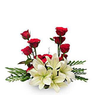 Elegance EXDFNP61: Send Lilies to Mumbai