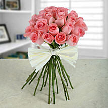 Elegant Pink Roses Bunch: Flower Bouquets