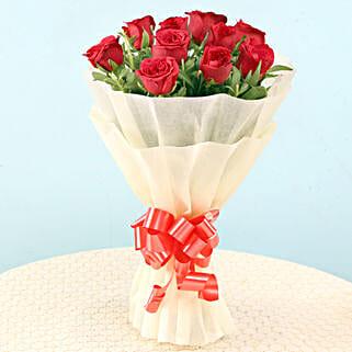 Elegant Red Roses: Send Flowers to Almora