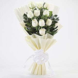 Elegant White Roses Bouquet: