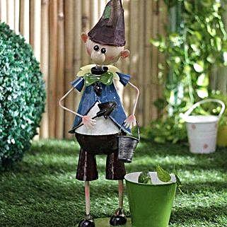 Elf Boy Planter: Garden Tools and Accessories