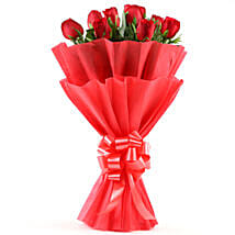 Enigmatic Red Roses Bouquet: Birthday Flowers