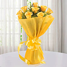 Enticing Yellow Roses Bouquet: Roses to Faridabad