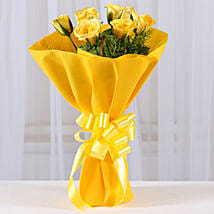 Enticing Yellow Roses Bouquet: Send Flower Bouquets to Mumbai
