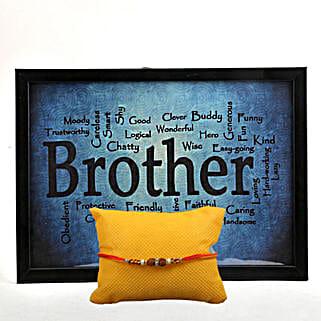 Especially For Bro: Rudraksh Rakhi