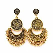 Ethnic Gold Ghungroo Earrings: Accessories for Her