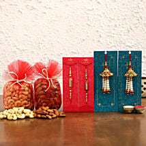 Ethnic & Lumba Rakhis With Dry Fruits: Rakhi Express Delivery