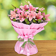 Exotic Charisma of Pink: Boss Day Flowers