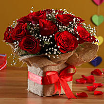 Exotic Red Roses Arrangement: New Arrival Flowers