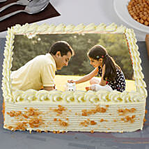 Fathers Day Special Creamy Butterscotch Photo Cake: Photo Cakes