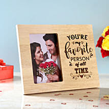 Favourite Person Engraved Wooden Frame: Personalised Photo Frames