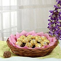 Ferrero Chocolate Basket: Fathers Day Gift Baskets