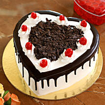 Flakey Hearts Black Forest Cake: Heart Shaped Cakes Thane
