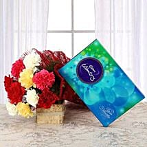 Flavourful Rainbow: Send Flowers & Chocolates for Husband
