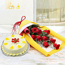 Floral Array of Hues: Cake Delivery in Solan