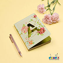 Floral Design Doodle Initial Diary: Send Personalised Gifts for Kids