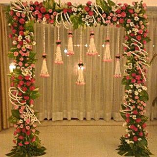 Floral Gateway Hanging Decoration: Flowers for Janmashtami