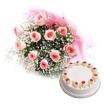 Flower and Cake Hamper: Send Flowers & Cakes to Noida