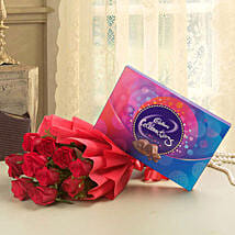 Flowery Celebrations: Flowers with Chocolates