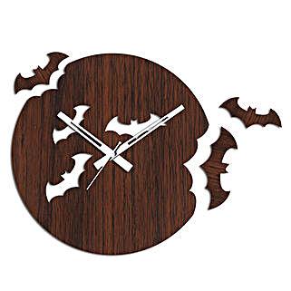 Flying Bats Brown Wall Clock: Wall-Clock Gifts