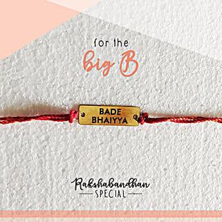 For Your Bade Bhaiya Quirky Rakhi & Card: Rakhi to Tiruvottiyur