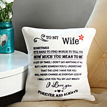 Forever & Always Printed Cushion: Anniversary Gifts