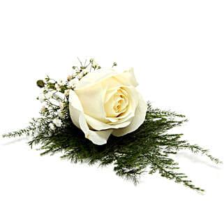 Fresh Flower White Lapel Pin: