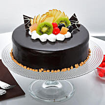 Fruit Chocolate Cake: Eggless Cakes for Anniversary