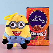 Funky Minion Rakhi & Celebrations Combo: Rakhi to Gauribidanur
